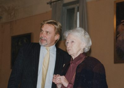 Vladimir Vasiliev and Galina Ulanova. One of her last photographs