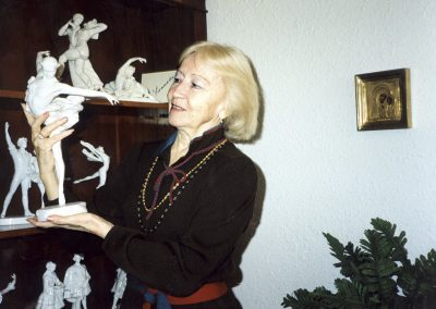 Galina Ulanova in the ballet museum. Dusseldorf