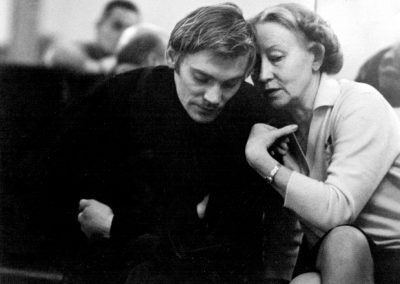 Galina Ulanova with Vladimir Vasiliev.1970-s