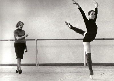 Rehearsing with Maya Plisetskaya