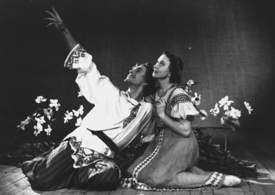 The Tale of the Stone Flower. Vladimir Kondratov as Danila, Galina Ulanova as Katerina