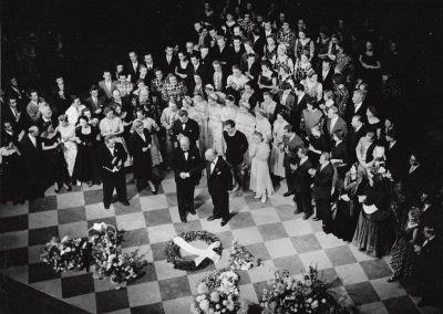 After the Giselle premiere at the Royal Opera House. London, 1956
